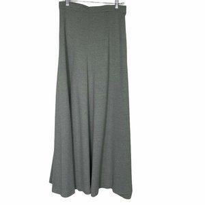 Vintage Louis Feraud  Gray Ribbed Maxi Skirt 16